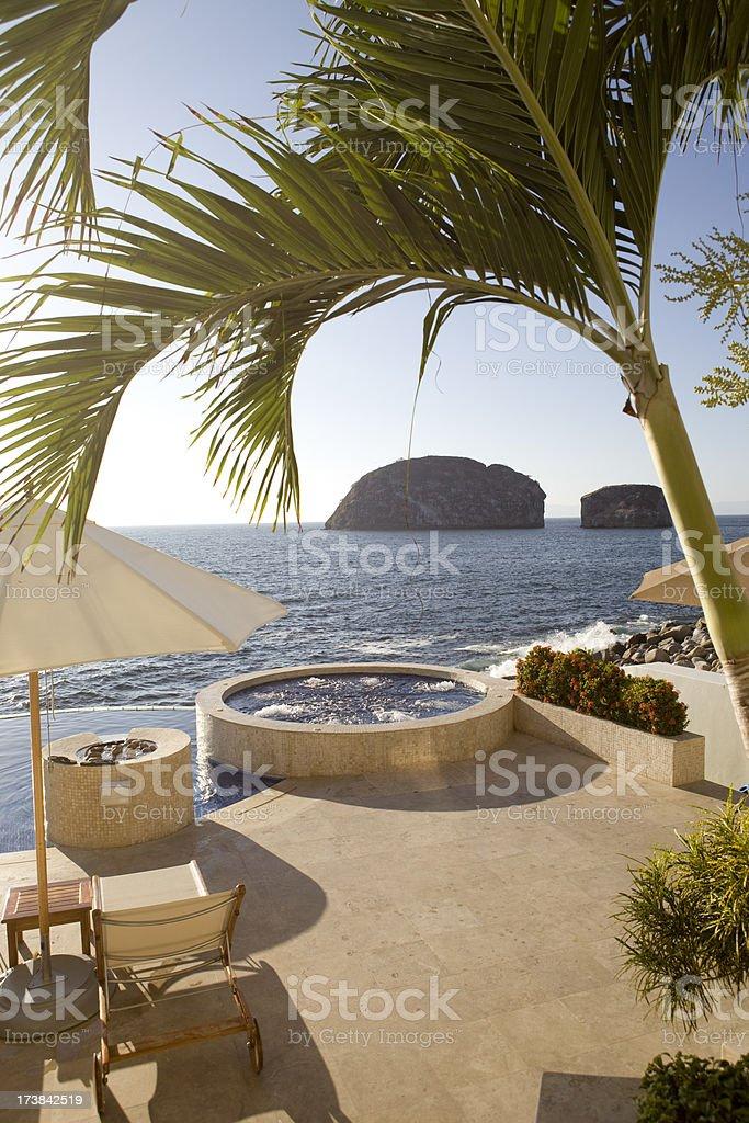 Villa Patio in Puerto Vallarta Mexico royalty-free stock photo