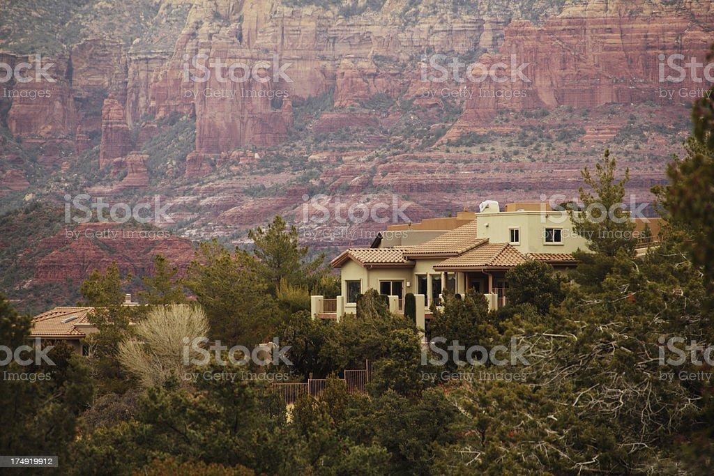 Villa Red Rock Arizona Mansion royalty-free stock photo