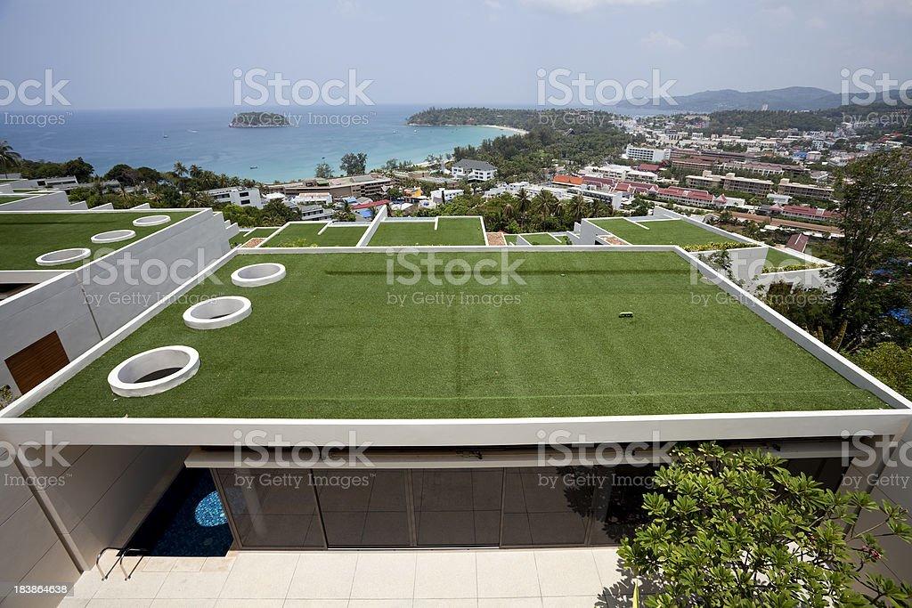 villa rooftop kata beach phuket stock photo