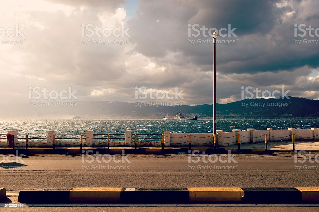 Villa San Giovanni Sicily Italy stock photo