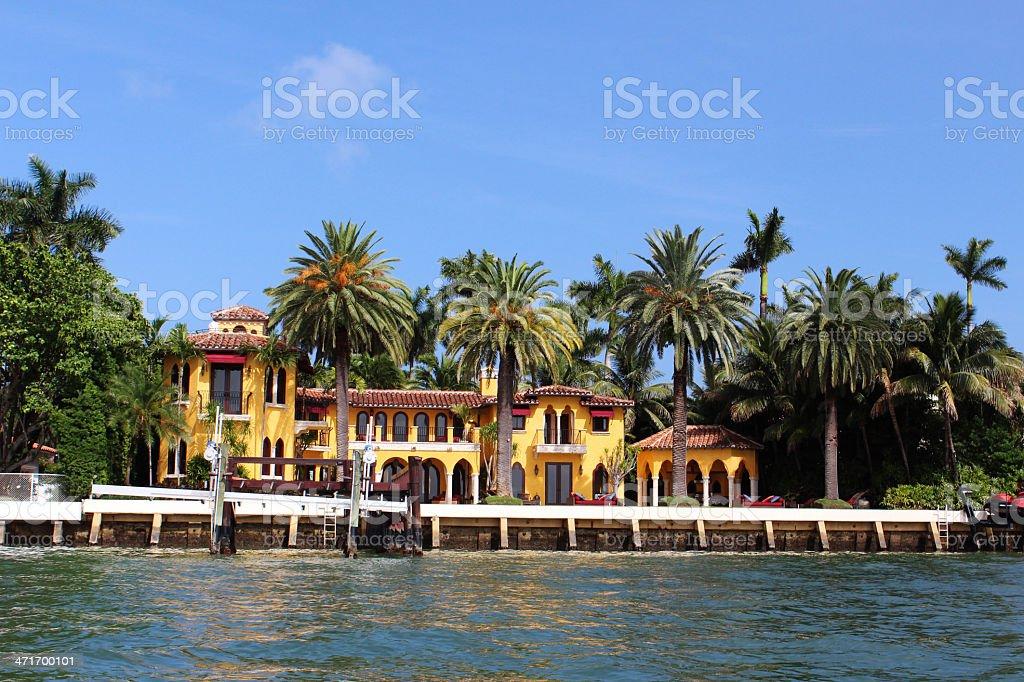 Villa Star Island Miami stock photo