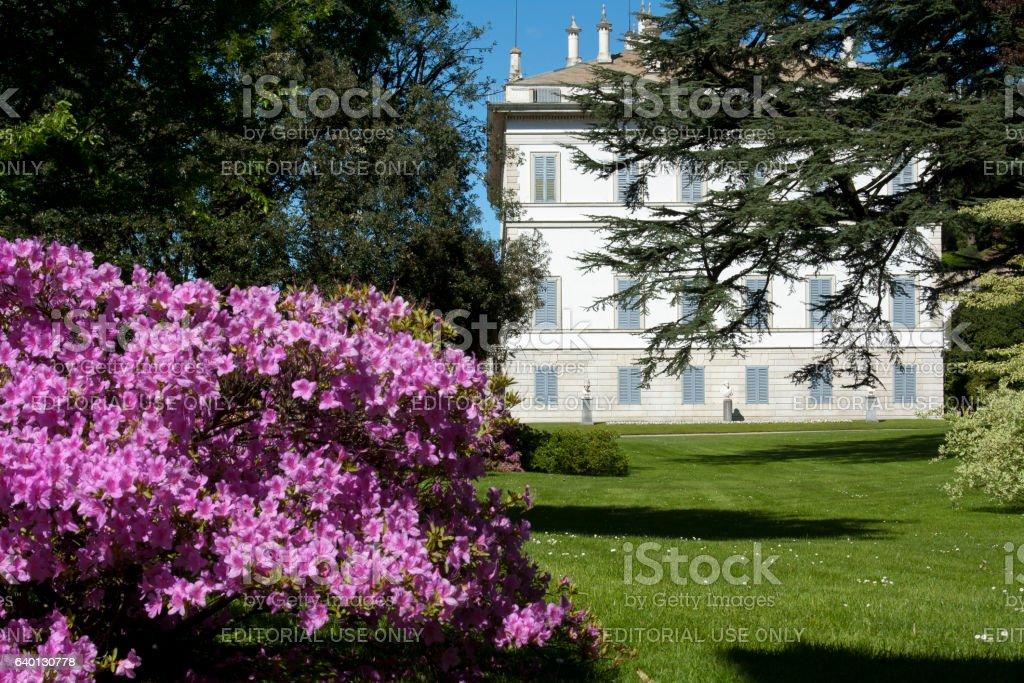 Villa sul Lago di Como / Villa on Como lake stock photo