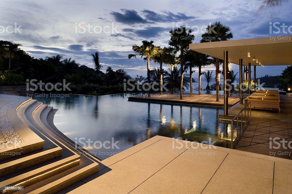 Villa Sunrise royalty-free stock photo