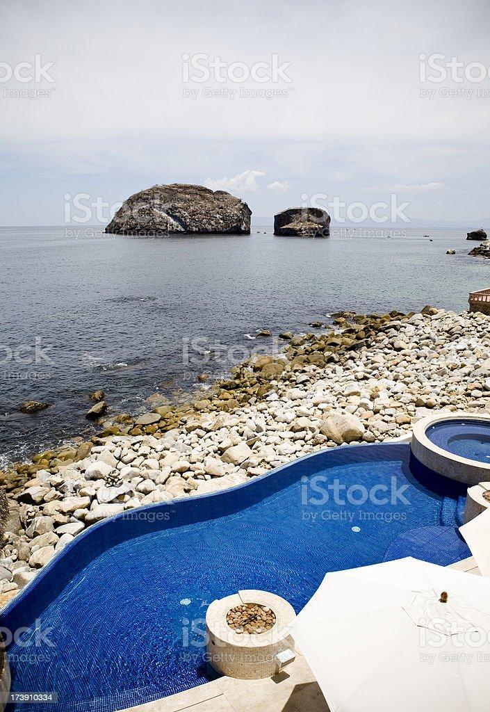 Villa Swimming Pool in Puerto Vallarta Mexico stock photo