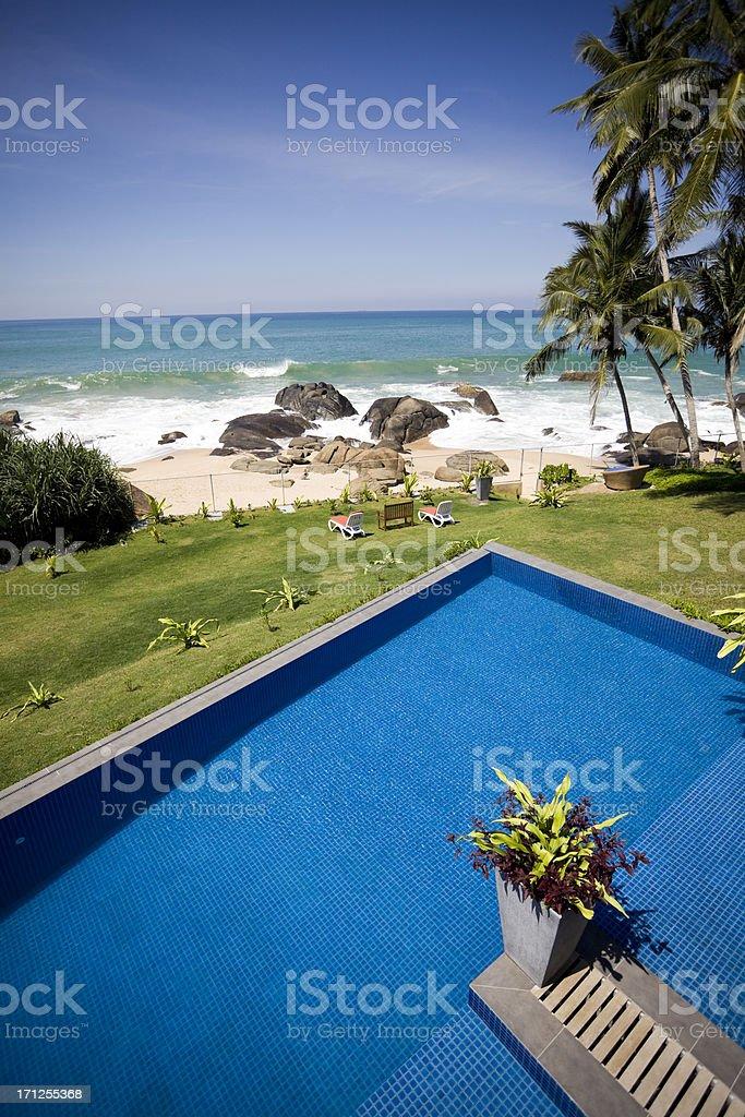 villa swimming pool sri lanka royalty-free stock photo
