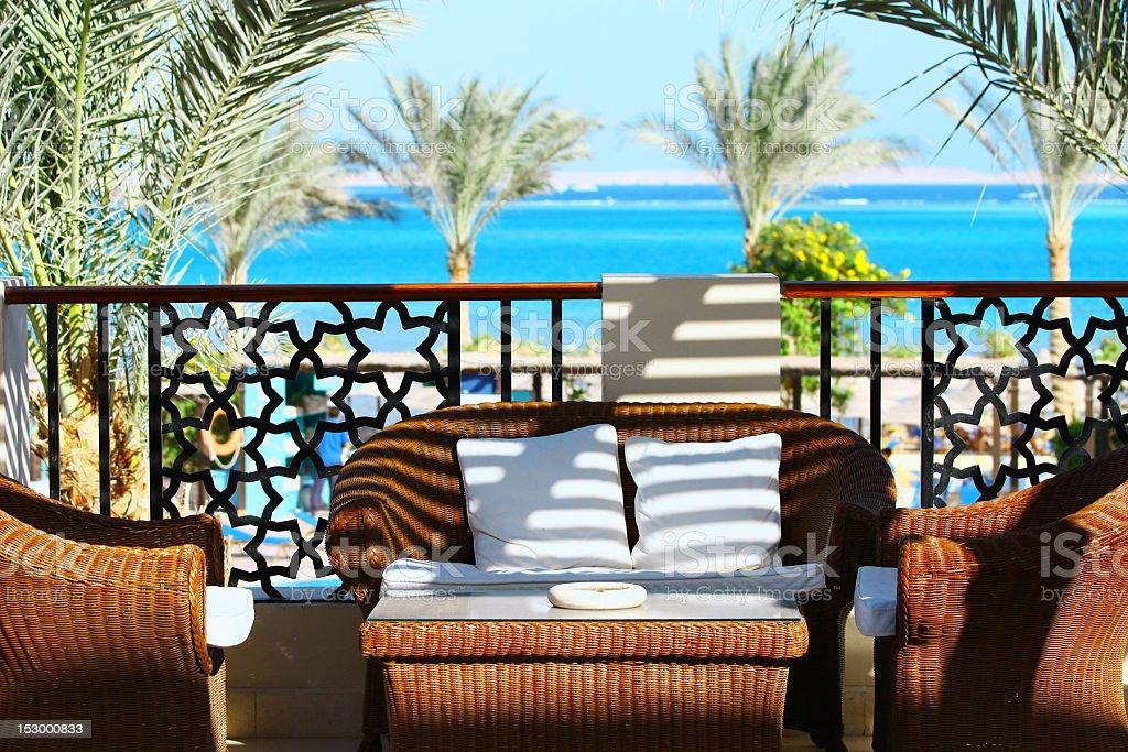 Villa Terrace royalty-free stock photo