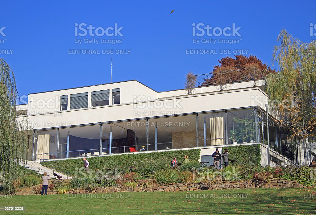 Villa Tugendhat, the historical building in Brno stock photo