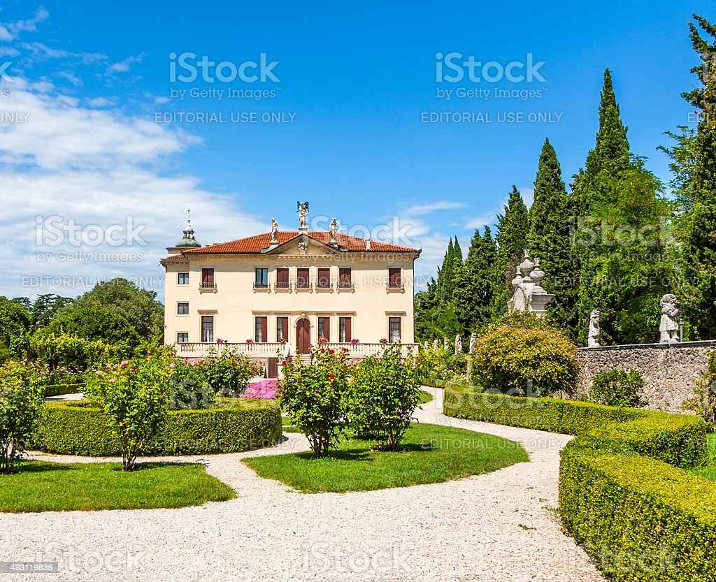 Villa Valmarana ai Nani in  Vicenza stock photo