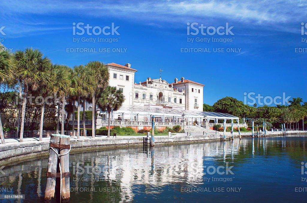 Villa Vizcaya Museum view stock photo