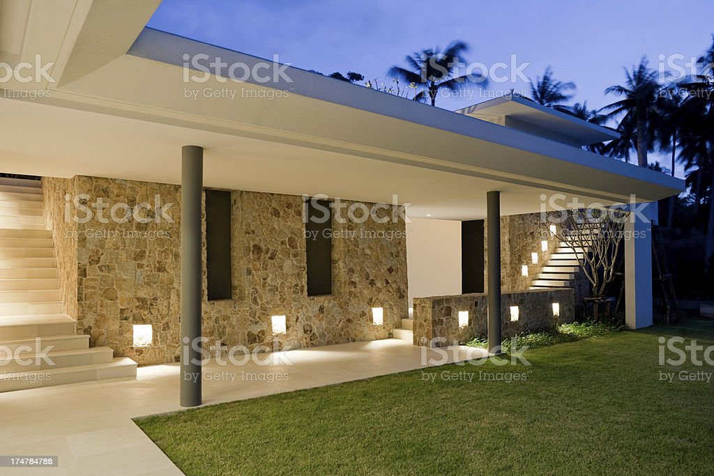 Villa Walkway royalty-free stock photo