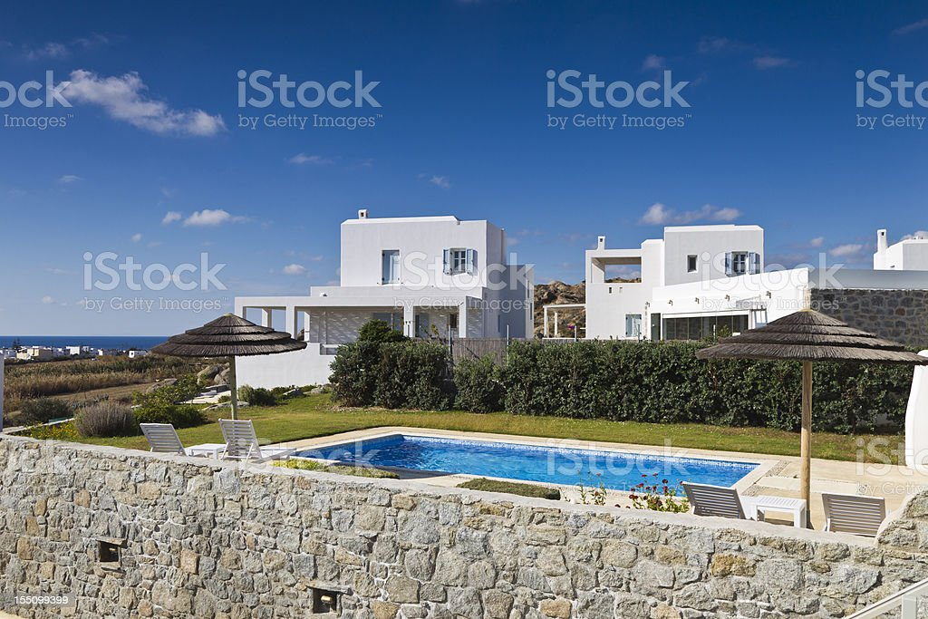Villa with swimming pool royalty-free stock photo