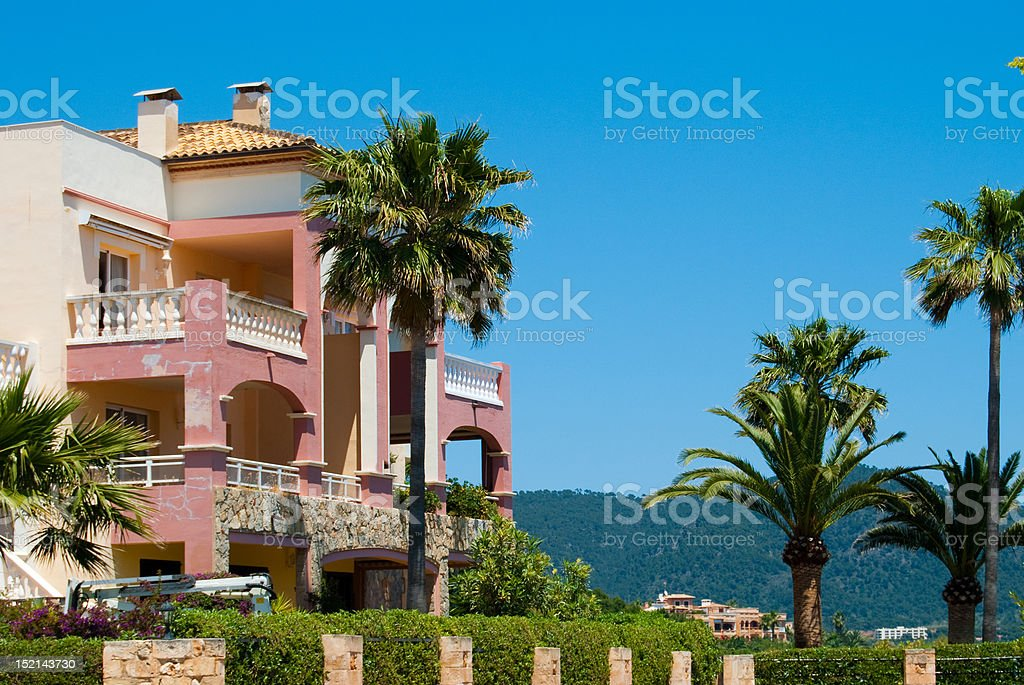 Villa with the garden, Majorca, Spain royalty-free stock photo