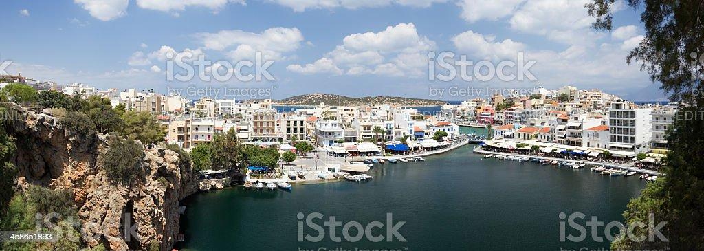 Village Aghios Nikolaos royalty-free stock photo