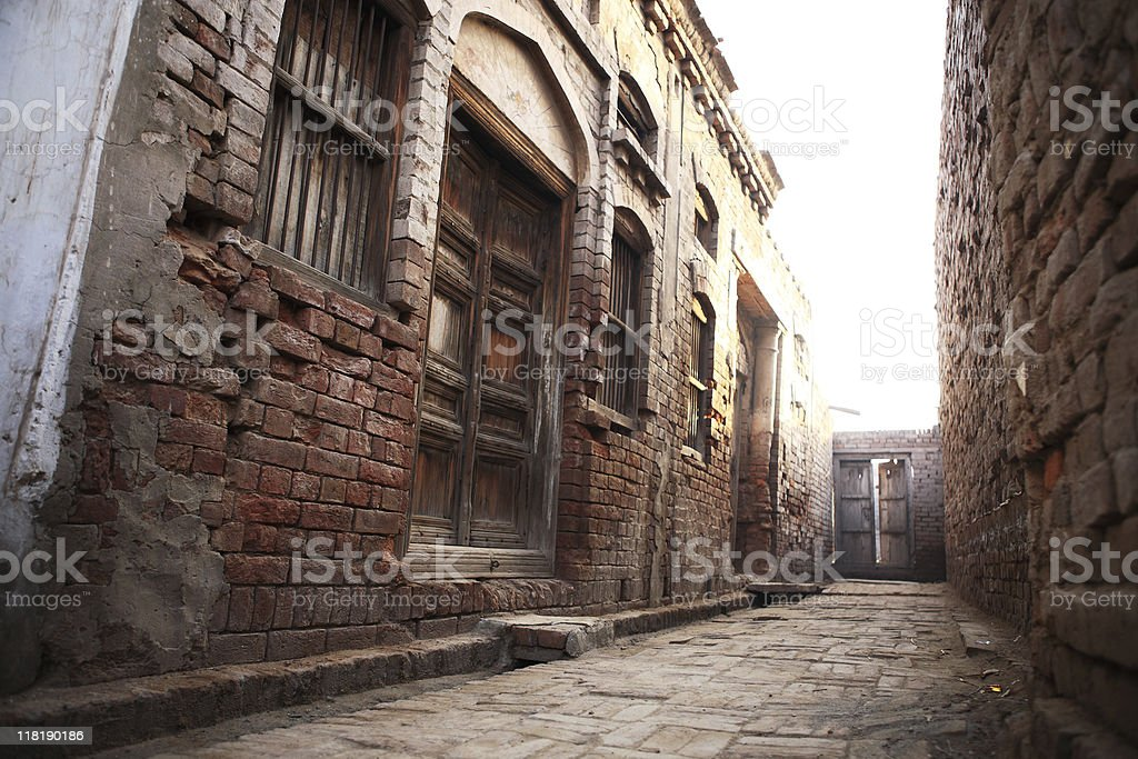 Village Alley stock photo
