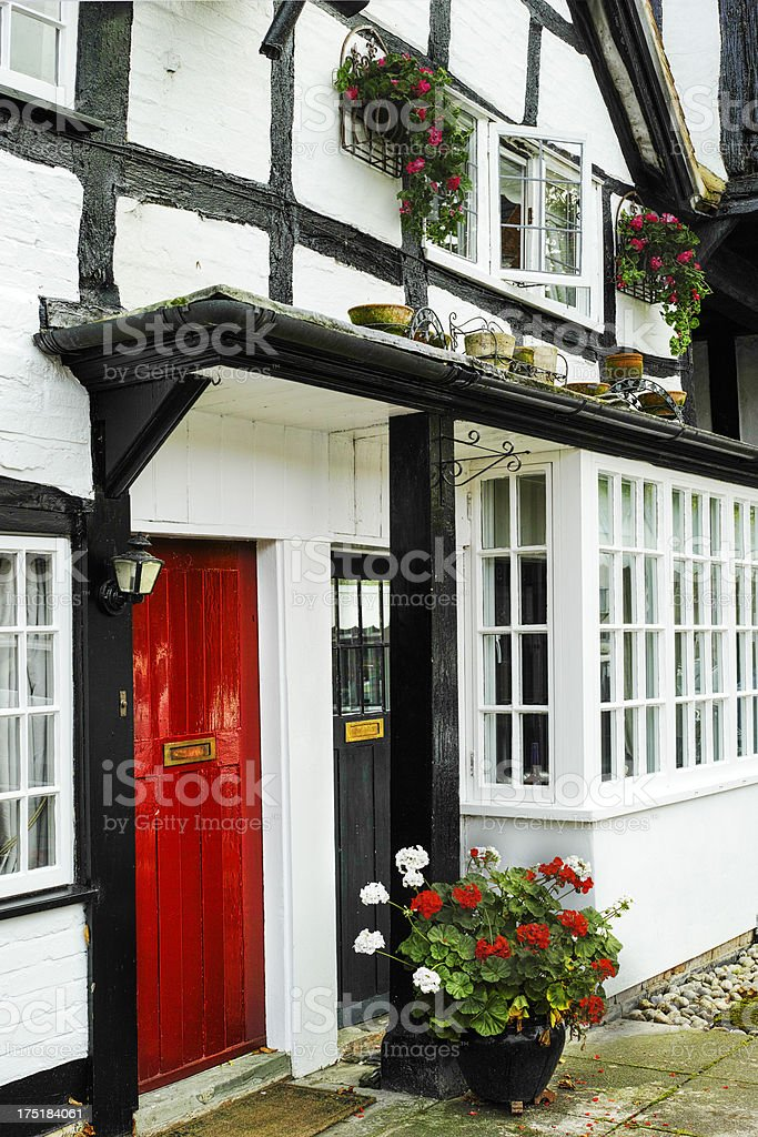 village and flowers royalty-free stock photo