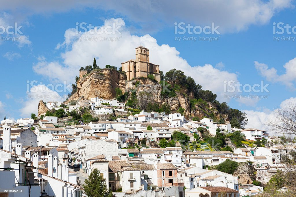 Village and fortress of Montefrio stock photo