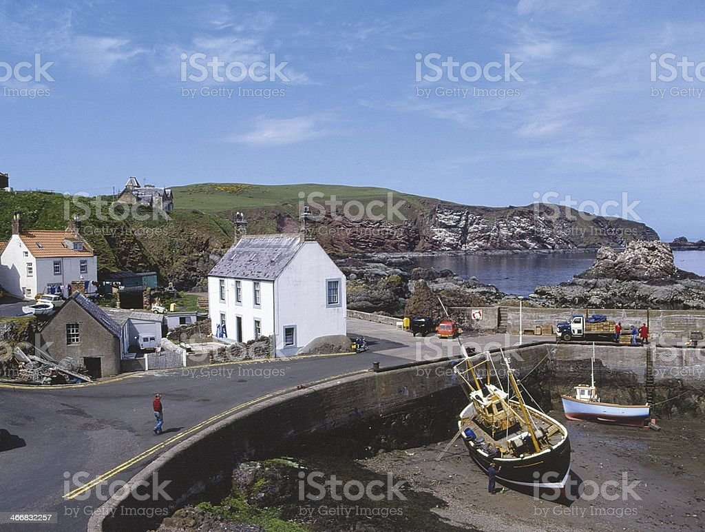 Village and Harbour St. Abbs Berwickshire stock photo