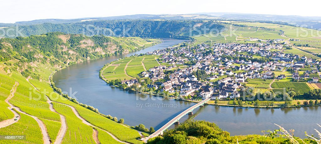 Village at the River Moselle royalty-free stock photo