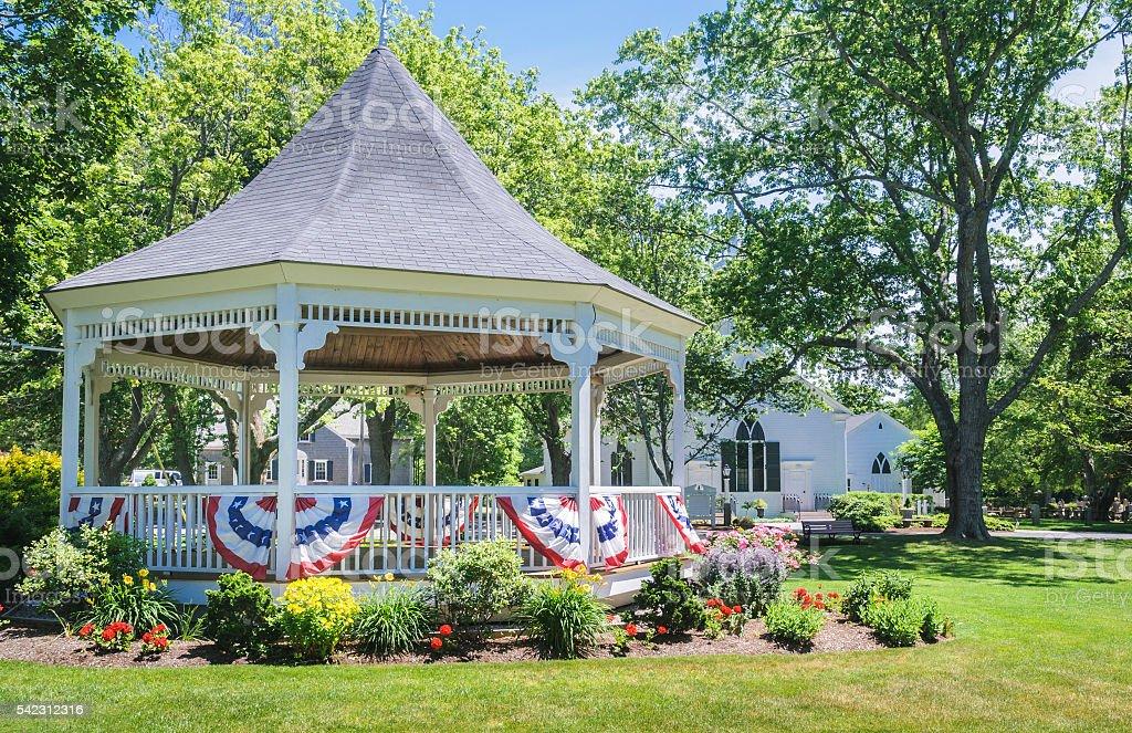 Village Bandstand stock photo