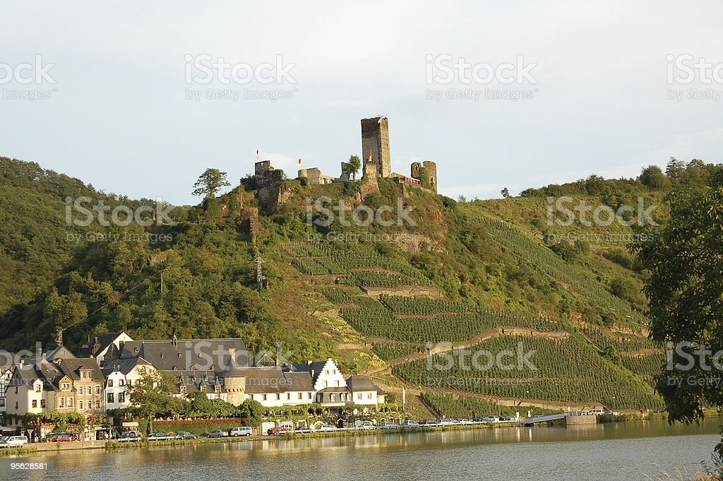 Village Beilstein on Mosel Valley (Germany) royalty-free stock photo