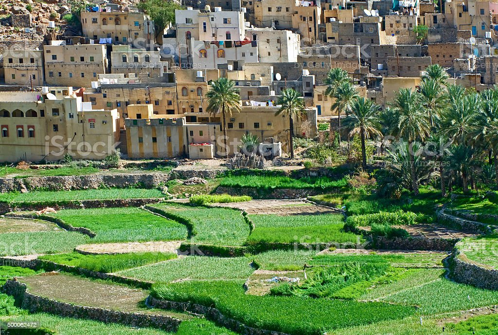 village Bilad Sayt, sultanate Oman stock photo