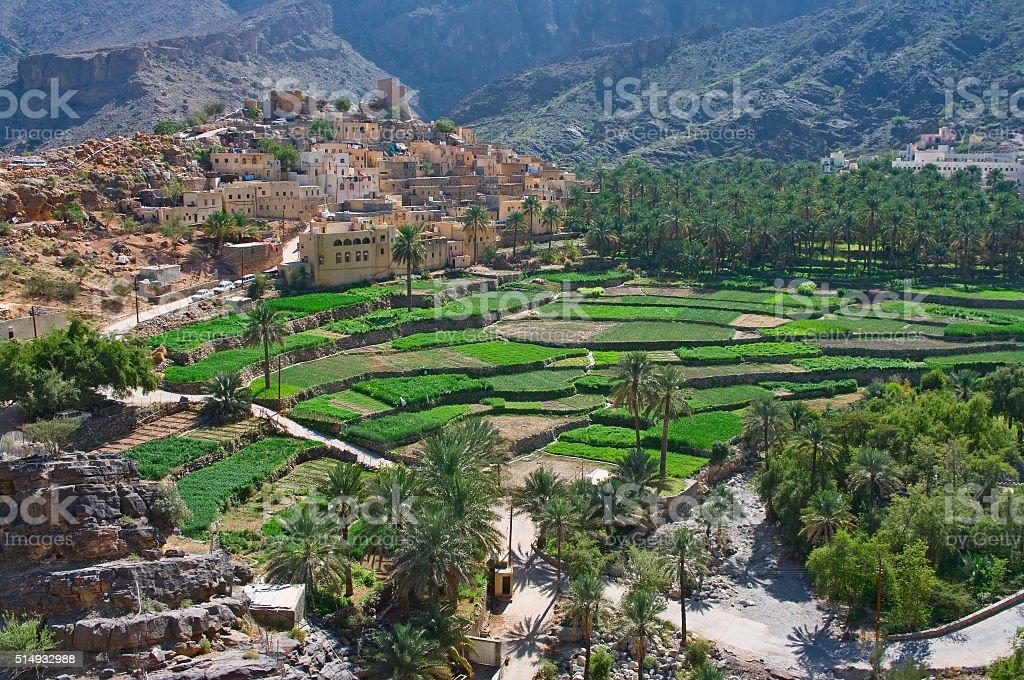 village Bilad Sayt, sultanate Oman stock photo