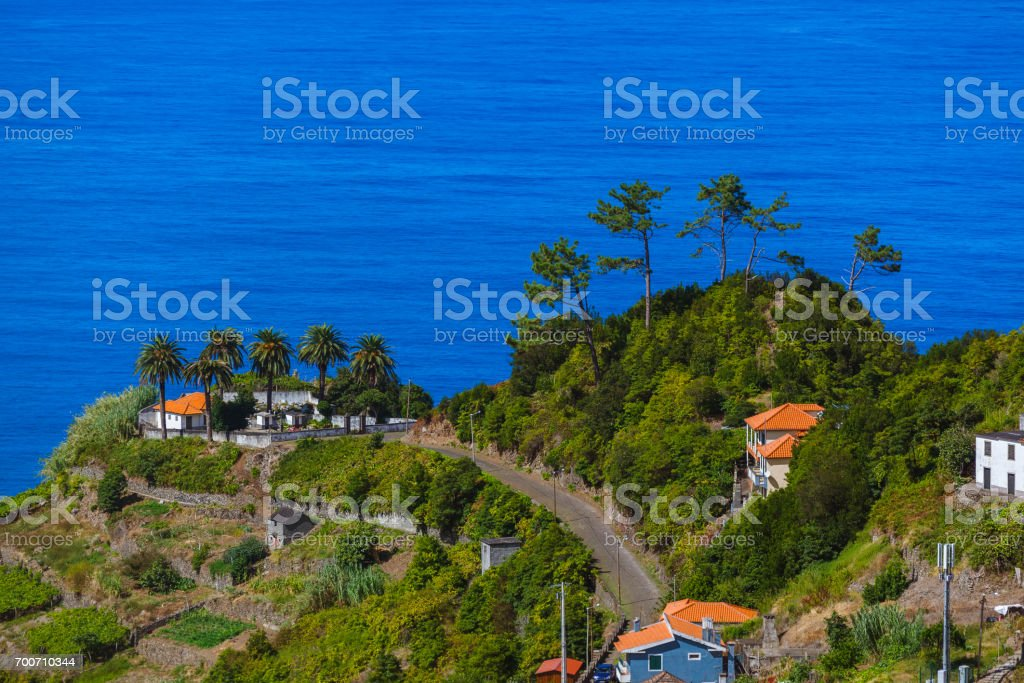 Village Boaventura in Madeira Portugal stock photo