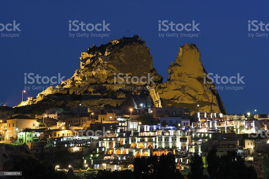 Village By Night In Cappadocia royalty-free stock photo