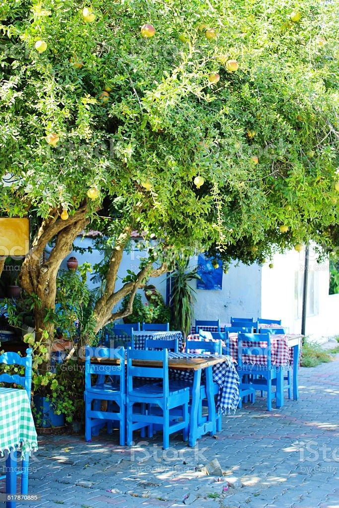 Деревня кафе Стоковые фото Стоковая фотография