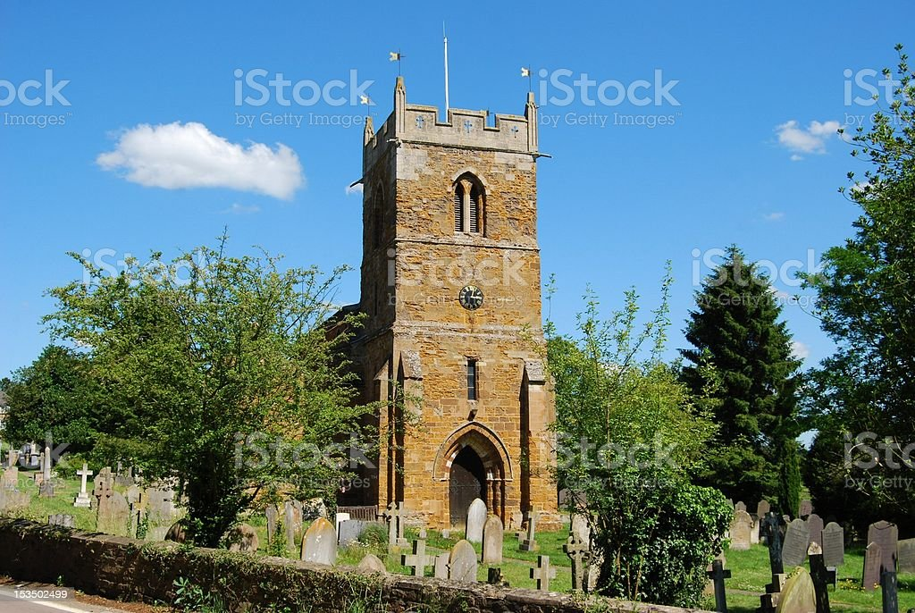Village church and cemetery, Great Britain royalty-free stock photo