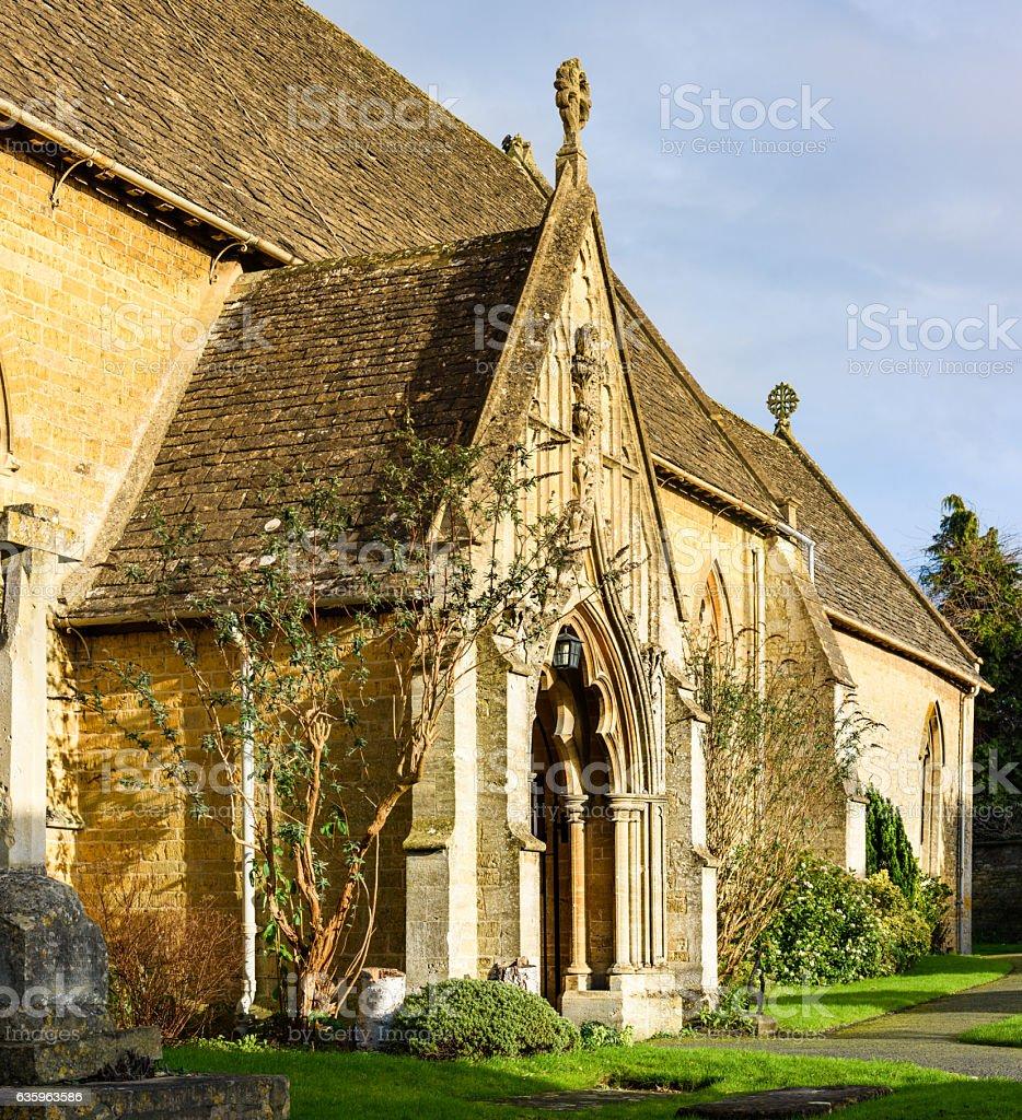 Village Church, Bourton on the Water stock photo
