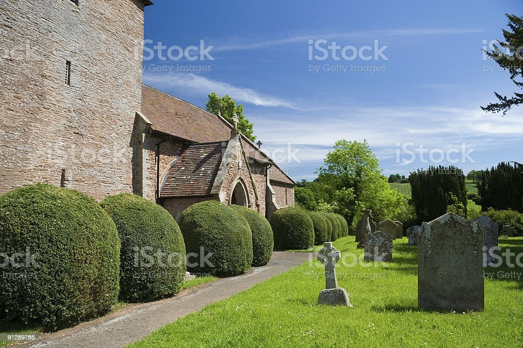 Village Church (15th Century) royalty-free stock photo