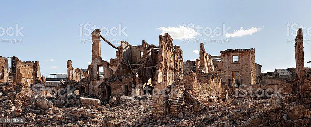 Village demolished stock photo