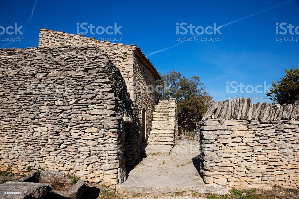 Village des Bories, Gordes, France stock photo