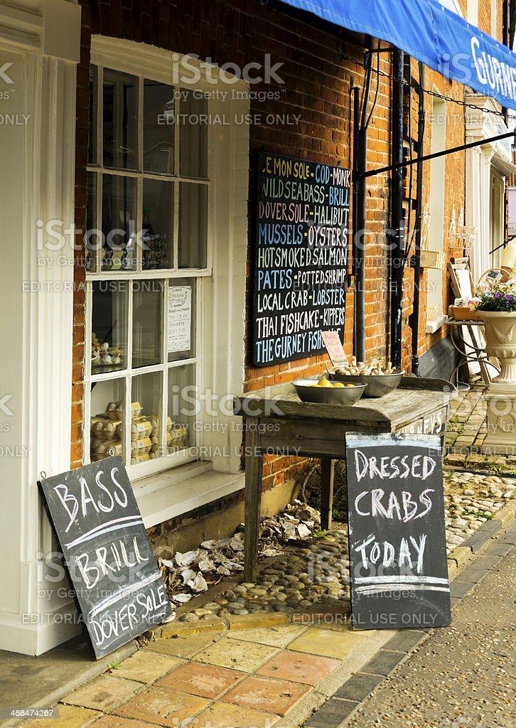 Village fishmonger's shop royalty-free stock photo