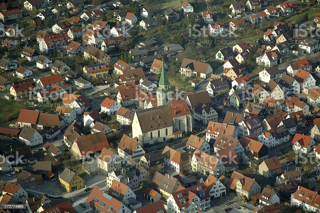 Village from above stock photo
