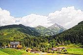 village gerlos in zillertal at european alps (Austria)