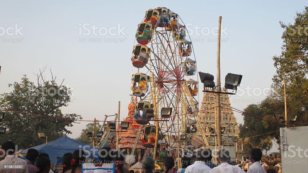 village giant wheel stock photo