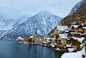 Village Hallstatt on the lake - Salzburg Austria