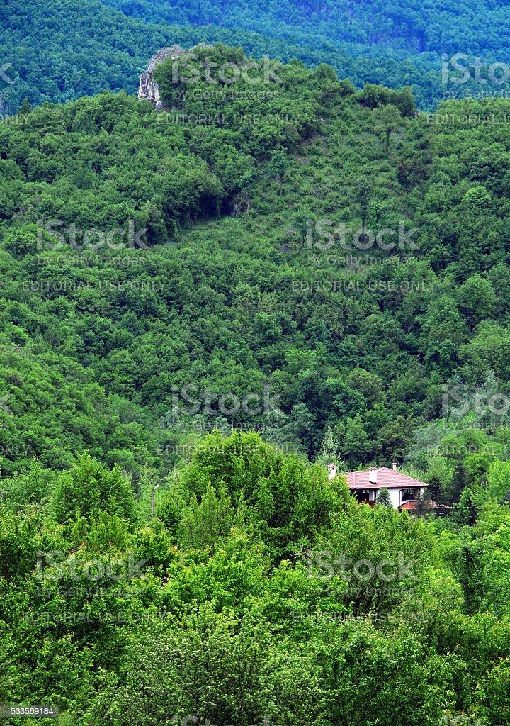 Village House in Balkan Mountains stock photo