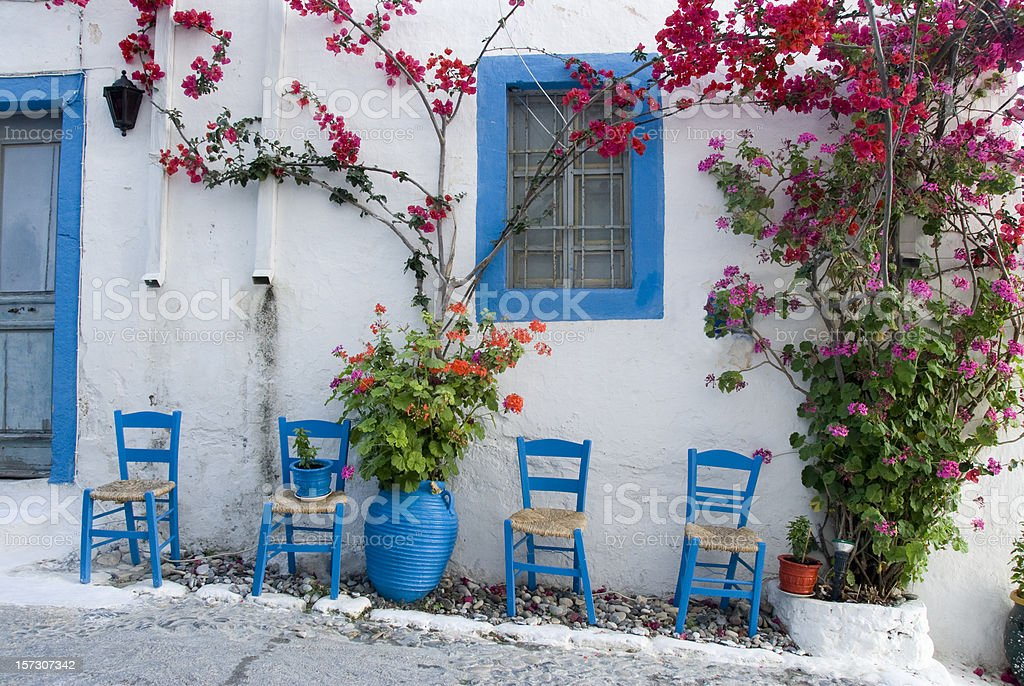 village house on the island of Kos Greece stock photo