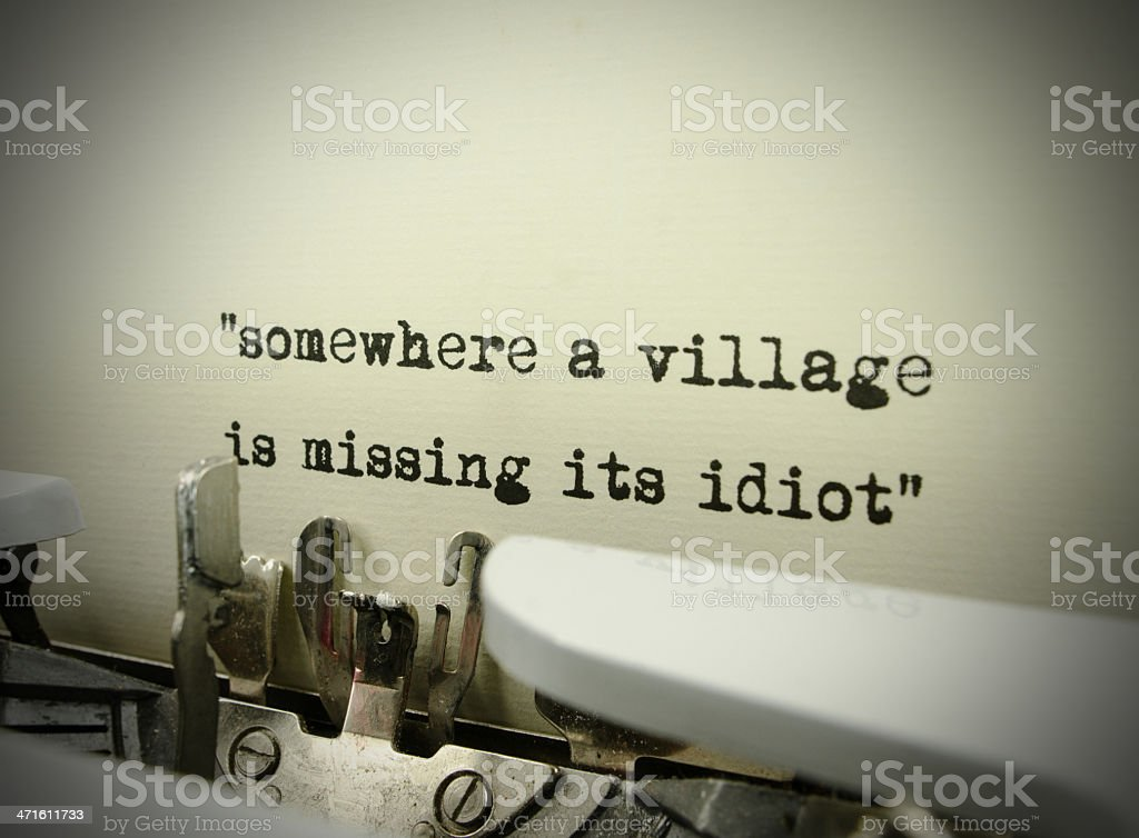 Village Idiot royalty-free stock photo