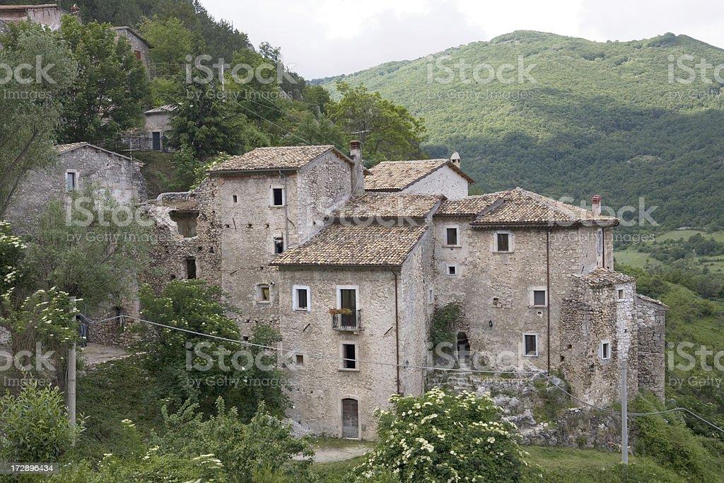 Village in Abruzzo, Italy. royalty-free stock photo