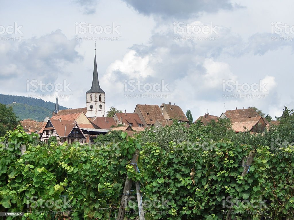 village in Alsace royalty-free stock photo