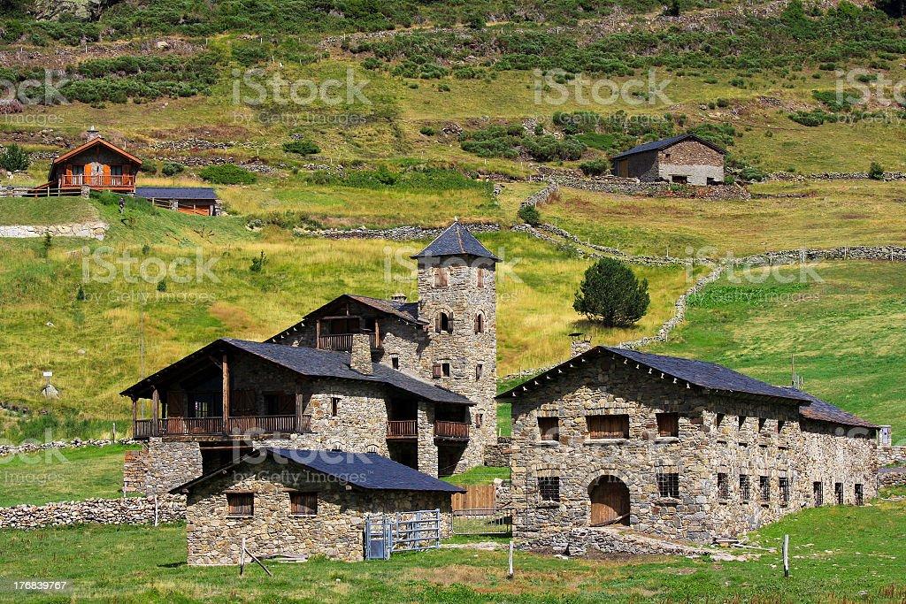 Village in Andorra stock photo
