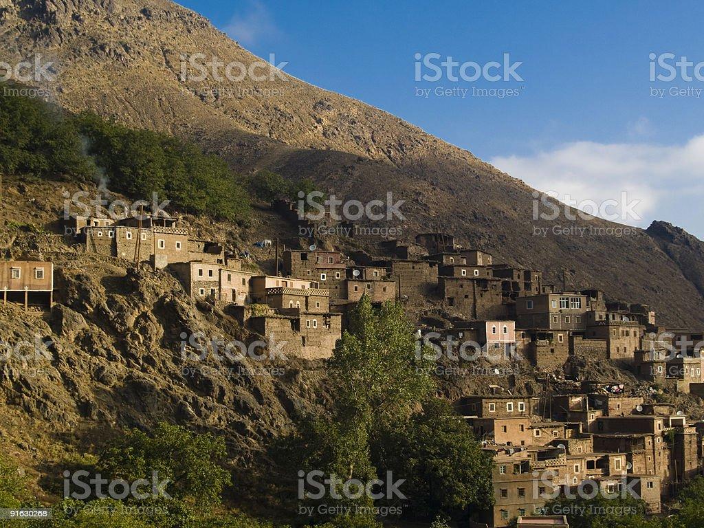 Village in Atlas royalty-free stock photo