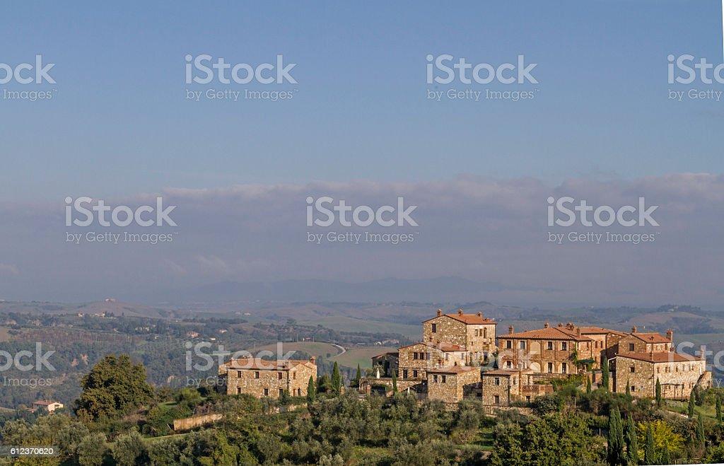 village in  Crete Senesi stock photo