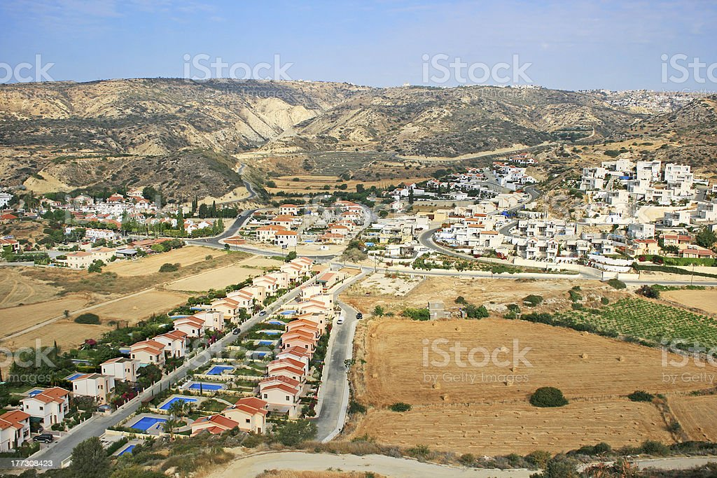 Village in Cyprus royalty-free stock photo