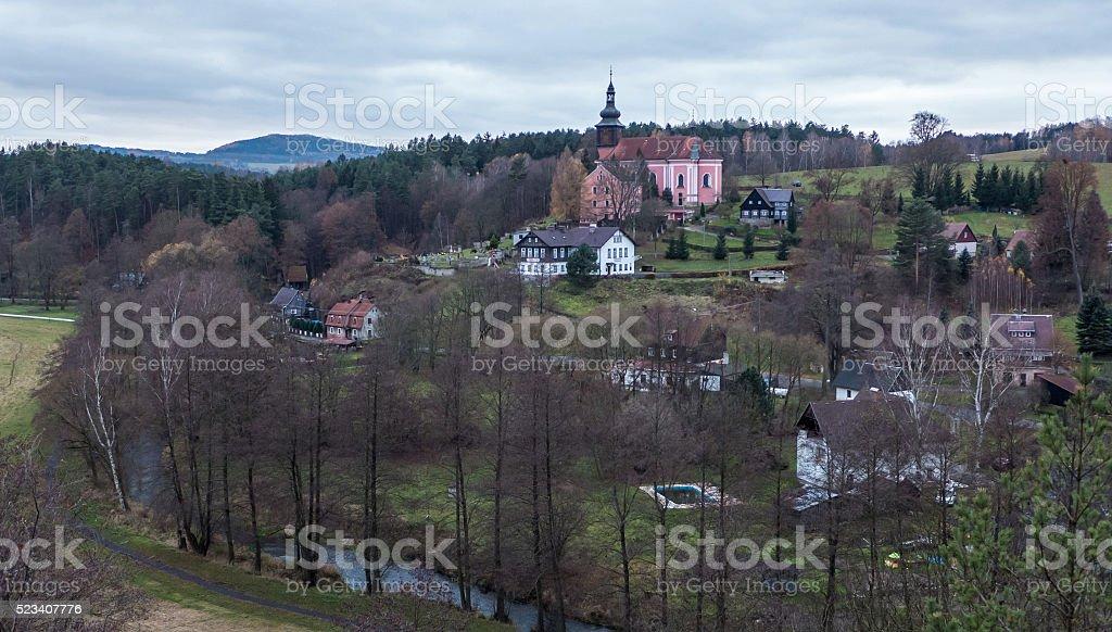 Village in Czech republic stock photo