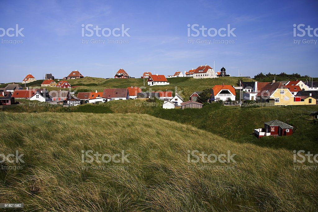 Village in Denmark stock photo
